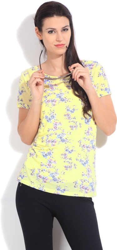 United Colors of Benetton Casual Short Sleeve Floral Print Women's...