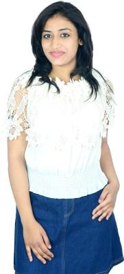 Shopaholic Fashion Casual Short Sleeve Printed Women's White Top