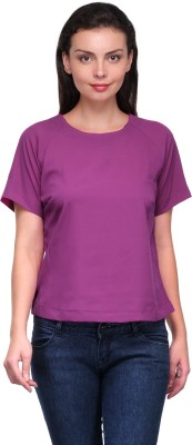 Zachi Casual Short Sleeve Solid Women's Pink Top
