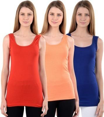 Beautic Party, Lounge Wear, Beach Wear Sleeveless Self Design Women's Multicolor Top