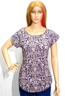 umesh fashion Casual Short Sleeve Printed Women's Multicolor Top