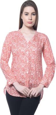 Florrie Fusion Casual Full Sleeve Polka Print Women's Pink Top