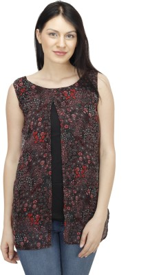 Colornext Casual Sleeveless Printed Women,s Multicolor Top