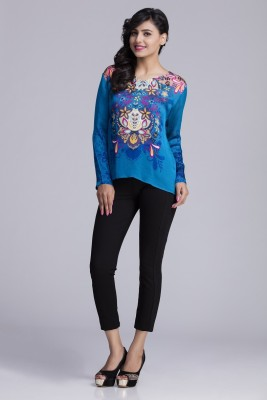 Toscee Casual Full Sleeve Printed Women's Multicolor Top