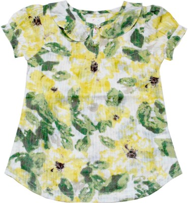 Young Birds Casual, Formal Cap sleeve Printed Girl's Multicolor Top
