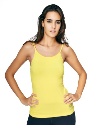 Restless Sports, Casual Sleeveless Solid Women's Yellow Top