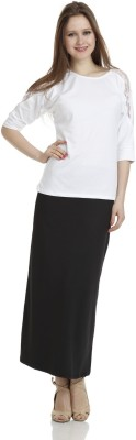 James Scot Formal, Party, Lounge Wear Short Sleeve Solid Women's White Top
