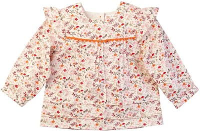 Mom & Me Casual Full Sleeve Printed Girl's Multicolor Top