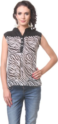 KIM KARTER Casual Sleeveless Solid Women's Multicolor Top