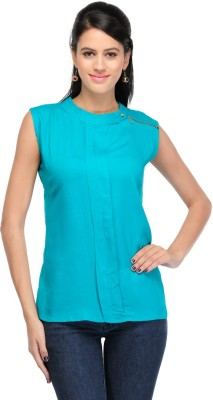 Maxi Fashion Casual Sleeveless Solid Girl's Green Top