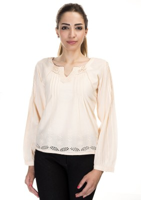 Falak Casual Full Sleeve Solid Women's Pink Top