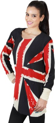 SXY! Casual, Lounge Wear, Festive Full Sleeve Woven Women's Multicolor Top