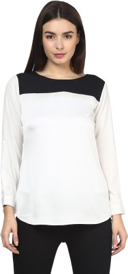 Martini Casual Full Sleeve Solid Women's White Top