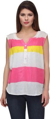 Gloria Casual Sleeveless Self Design Women's Multicolor Top