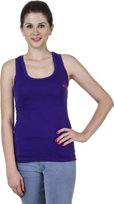 Jprana Sports Sleeveless Solid Women's Purple Top
