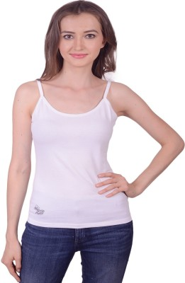 Lee Marc Casual Noodle strap Solid Women's White Top