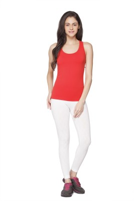 Channel Nine Casual Sleeveless Solid Women's Red Top