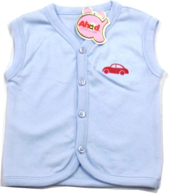 Ahad Casual Sleeveless Solid Baby Girl's Light Blue Top