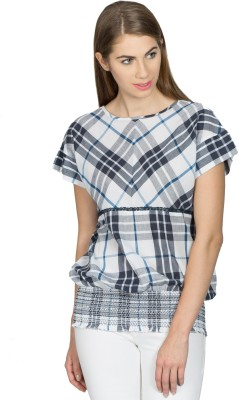 Miss Chick Casual Cape Sleeve Checkered Women's Multicolor Top