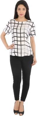 Tenn Casual Short Sleeve Solid Women's White Top