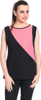 Rute Casual Sleeveless Solid Womens Pink Top