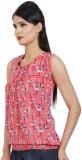 Visach Casual Sleeveless Printed Women's...