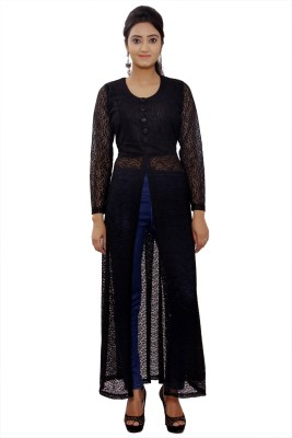 Maya Apparels Casual Full Sleeve Solid Women's Black Top