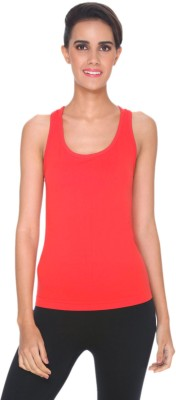 C9 Sports Sleeveless Solid Women's Red Top