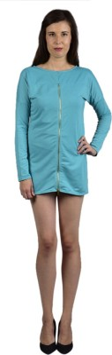 Saffora Fashion Casual Full Sleeve Solid Women's Light Blue Top