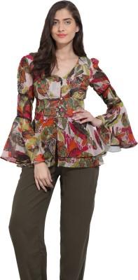 Ama Bella Casual Full Sleeve Printed Women's Multicolor Top