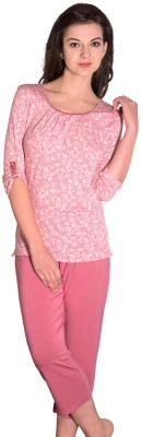 Amante Casual 3/4 Sleeve Printed Women's Pink Top