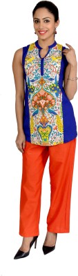 Jhoomar Casual, Party, Beach Wear, Lounge Wear, Formal, Wedding Sleeveless Printed Women's Multicolor Top