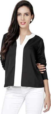 Eavan Casual Full Sleeve Solid Women Black Top at flipkart