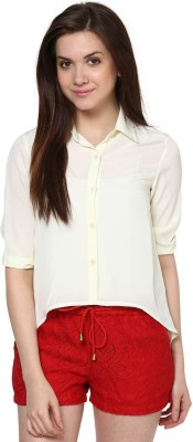 The Vanca Formal Full Sleeve Solid Women's White Top