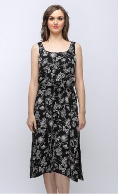 SOULWEAR Casual, Party, Formal, Wedding Sleeveless Printed Women's Black Top