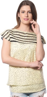 Florrie fusion Casual Short Sleeve Printed Women's Multicolor Top