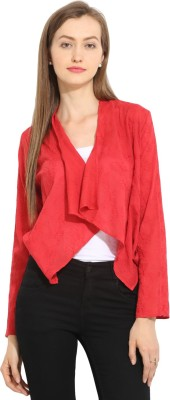 Paprika Casual Full Sleeve Solid Women,s Red Top