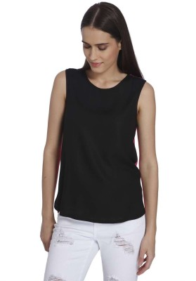 Vero Moda Casual Sleeveless Solid Women's Black Top
