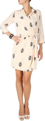 Karmik Casual 3/4 Sleeve Printed Women's White Top