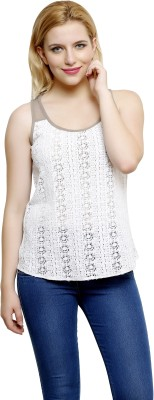 I Am For You Casual Sleeveless Solid Women's Grey Top