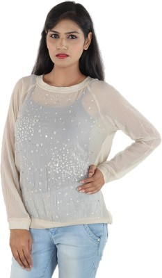 Aimeon Casual Full Sleeve Solid Women's White Top