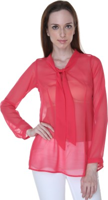 Rigoglioso Casual Full Sleeve Solid Women's Red Top