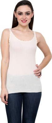 StyleToss Casual Sleeveless Solid Women's White Top