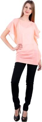 Selfiwear Casual Short Sleeve Printed Women's Orange Top