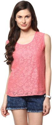 Abiti Bella Casual Sleeveless Embroidered Women's Pink Top