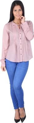 Fashionwardrobe Casual Full Sleeve Solid Women,s Pink Top