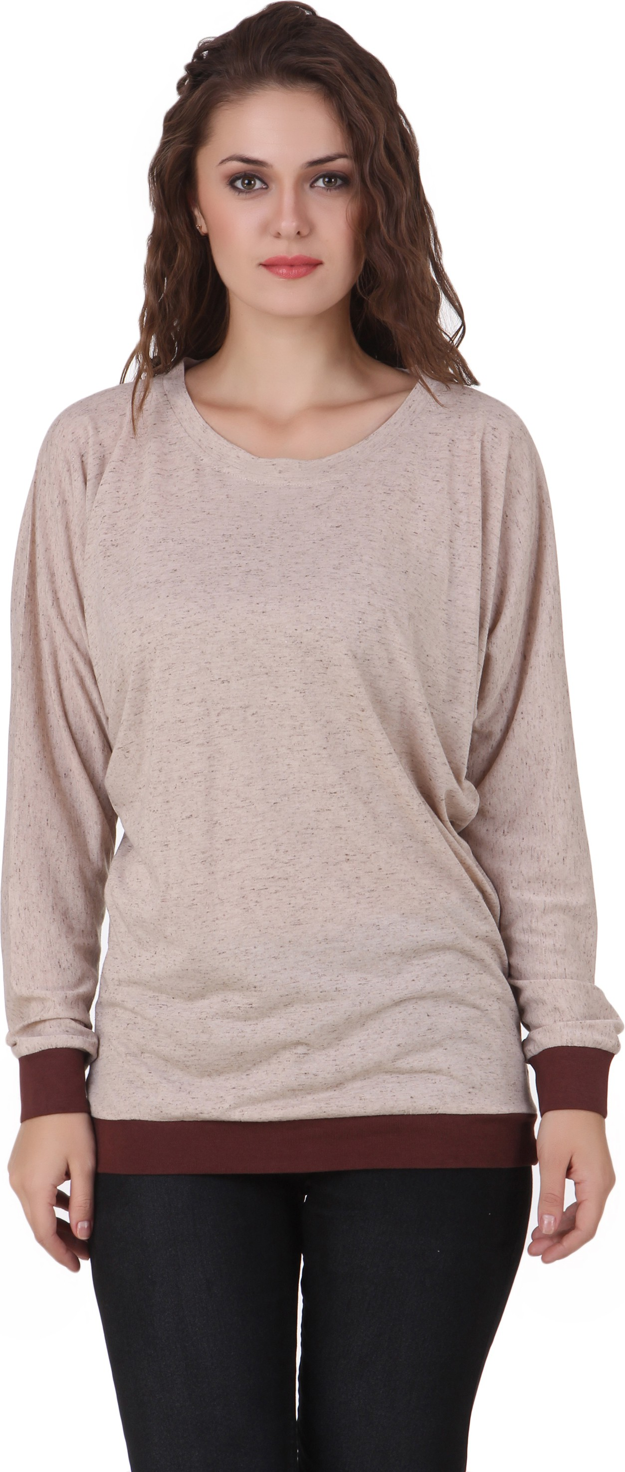 Texco Casual Full Sleeve Solid Womens Brown Top