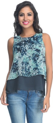 Rare Party Sleeveless Floral Print Women's Multicolor Top