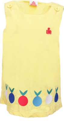 UFO Casual Sleeveless Embroidered Girl's Yellow Top