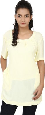 Tops and Tunics Formal Short Sleeve Solid Women's White Top